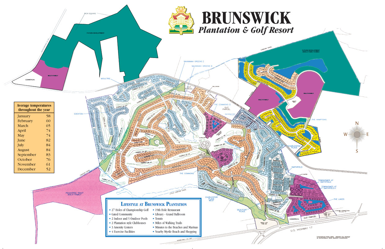 Community Site Plan For Brunswick Plantation And Golf Resort A